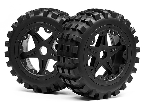Image Of Maverick Blackout Xb Mounted Wheel And Tyre Set (front) Pr