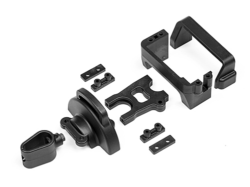 Maverick Centre Diff And Servo Mounts W/wire Holder And Cover MV29038
