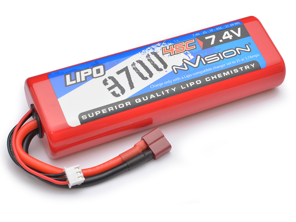 nVision 7.4v Sport LiPo 3700 45C (Deans) NVO1110