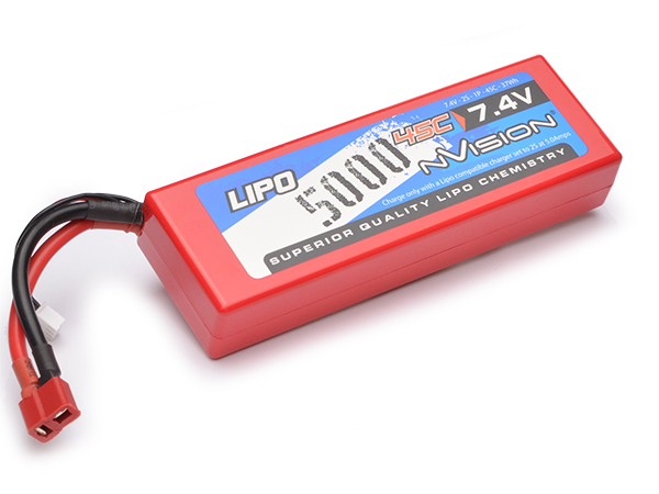 nVision 7.4v Sport LiPo 5000 45C (Deans) NVO1111