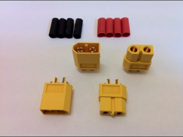 Logic RC XT60 Connector Set with Heat Shrink 2 pairs O-FS-XT60/02