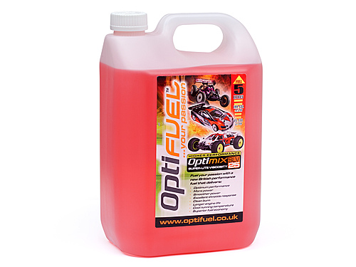 Optifuel Optimix Race 25% Nitro Car Fuel 5 Litres OP2002