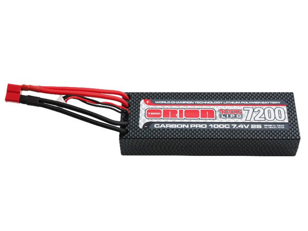 Orion 2S Carbon Pro 100C LiPo Battery 7200mAh 7.4v with Deans ORI14060