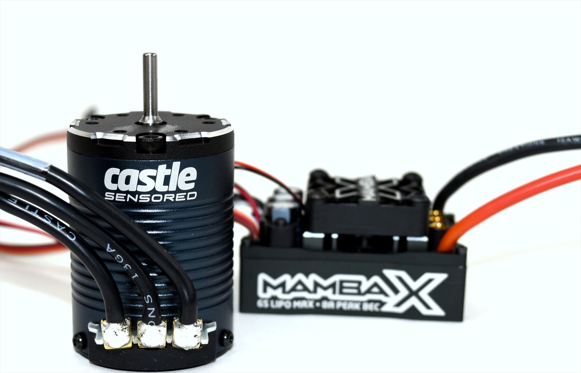 Castle Mamba X Sensored 25 2V WP ESC and 1406 2850kV Rock Crawler bo