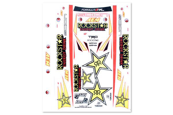 Matrixline Rockstar Formula Drift Decal Sheet PC-A023