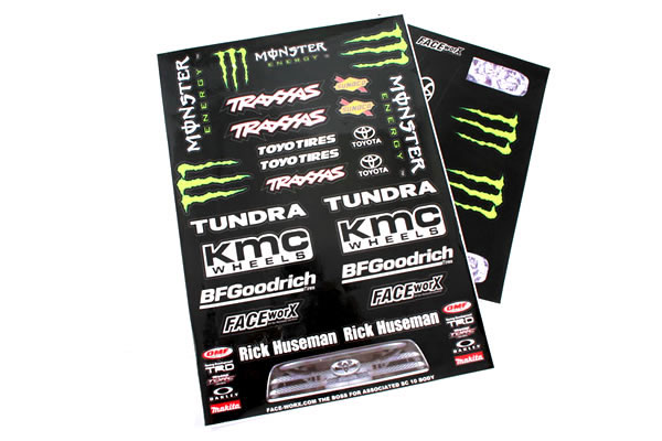 Matrixline Monster Black Short Course Decal Set PC-A054