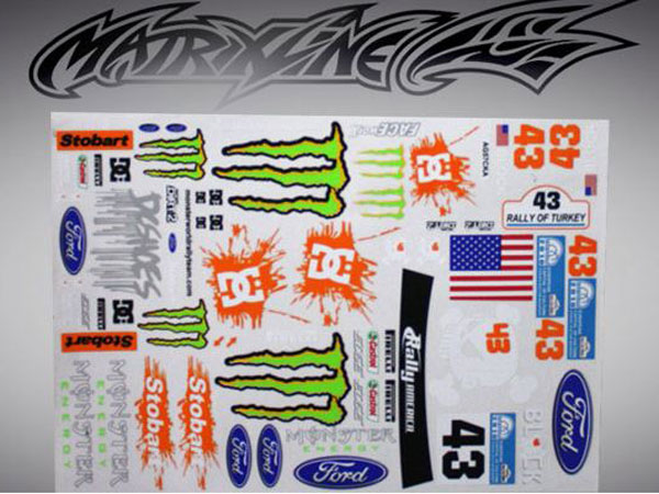 Matrixline Decals Stickers For Rc Model Car Bodyshells