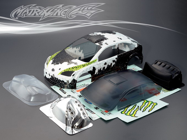 Matrixline Ford Focus Ken Block Gymkhana Style Printed Bodyshell w/Accessories 190mm PC201004R-2E