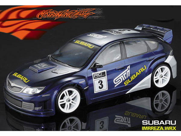 Matrixline Subaru WRX Clear Bodyshell 190mm with Accessories PC201006