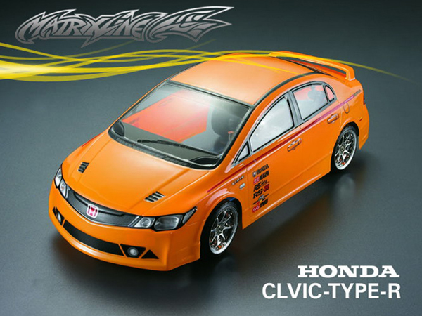 matrixline honda civic type  clear bodyshell mm  accessories pc