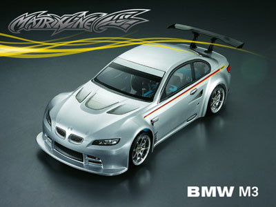 In Stock. Matrixline BMW M3 Clear Bodyshell 190mm With Accessories