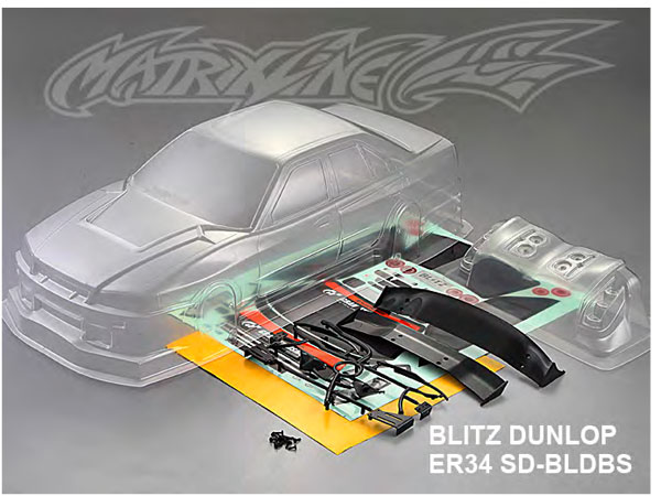 Matrixline Nissan ER34 190mm Clear Body PC201402