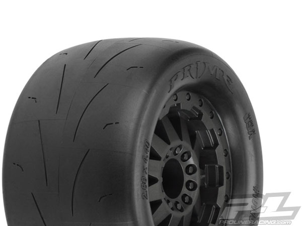 Pro-Line Prime 2.8 Street Tyres Mounted on F-11 Black Wheels PL10116-14