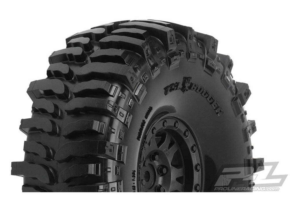 Pro-Line Interco Bogger 1.9in G8 Rock Terrain Tyres Mounted for Rock Crawler PL10133-10