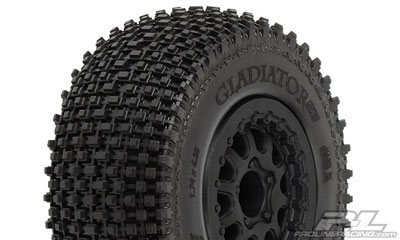 Pro-Line Gladiator SC M2 Tires Mounted on Renegade Black Wheels PL1169-13
