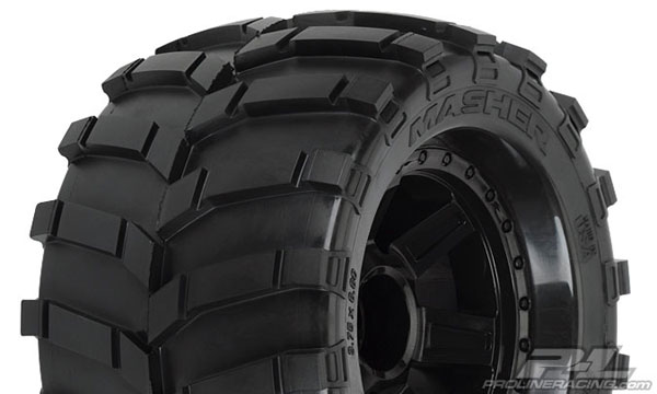 Pro-Line Masher 3.8 (Traxxas Style Bead) All Terrain Tires Mounted PL1189-11