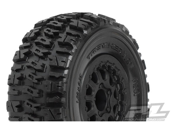 Pro-Line Trencher X SC 2.2/3.0 M2 (Medium) Tyres Mounted on Renegade Black Wheels PL1190-13