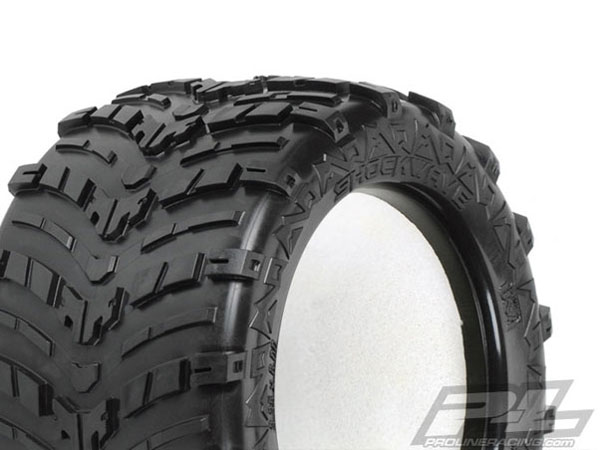 Pro-Line Shockwave 3.8'' (Traxxas Style Bead) All Terrain Truck Tyres for Front or Rear Traxxas Style Bead PL1193-00