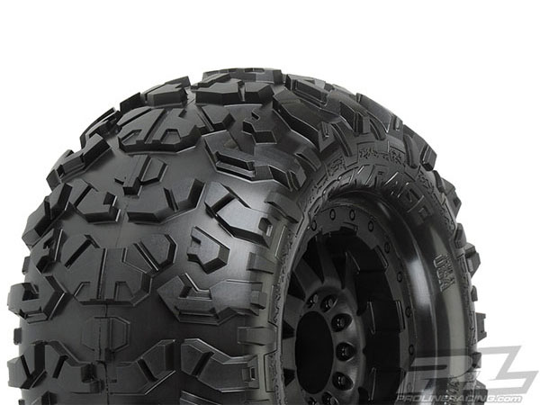 Pro-Line Rock Rage 3.8 All Terrain Tyres Mounted for 17mm MT Front or Rear PL1199-13