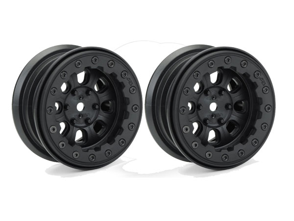 Pro-Line Denali 2.2'' Black/Black Bead-Loc 8 Spoke Front or Rear Wheels PL2757-15