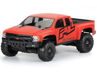 Pro-Line Chevy Silverado HD Clear Body For Slash 2WD And Slash 4x4 (With Pro-Line Extended Body Mounts) PL3385-00