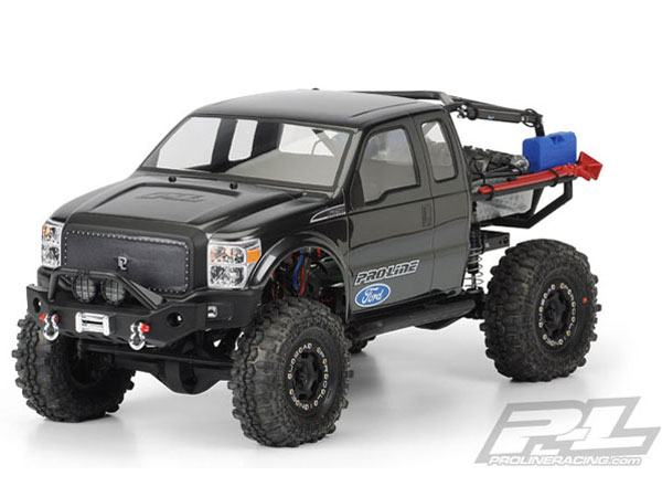 Pro-Line Ford F-250 Super Duty Cab Clear Body for SCX10 Trail Honcho 12.3in (313mm) Wheelbase PL3392-00