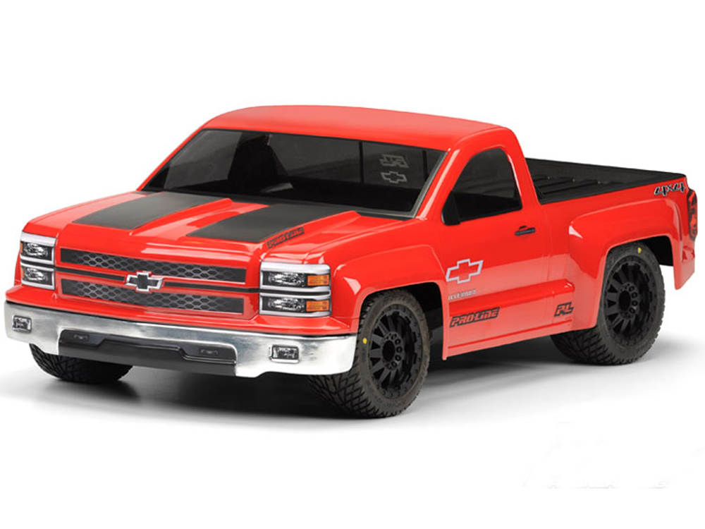 Pro-Line Chevy Silverado Pro-Touring Clear Body for SC and Rally PL3457-00