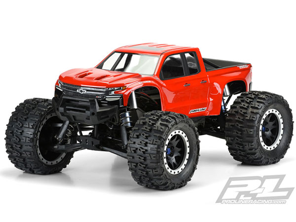 ../_images/products/small/Pro-Line Pre-Cut 2019 Chevy Z71 Silverado Clear Shell - X-Maxx