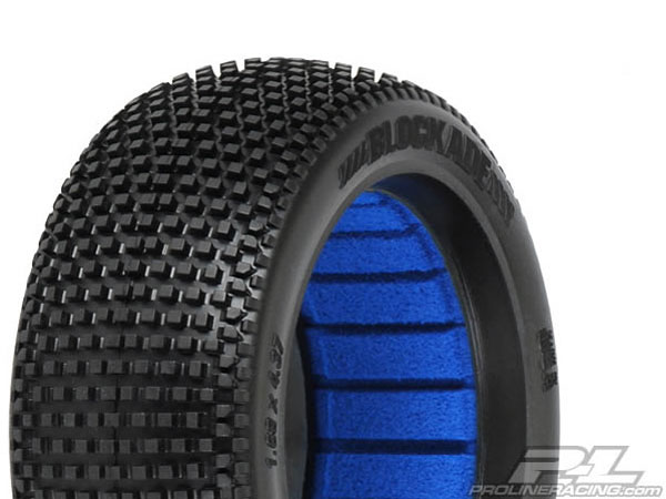 Pro-Line Blockade (M4) Off-Road 1/8th Buggy Tyres with Closed Cell Inserts (2) PL9039-03