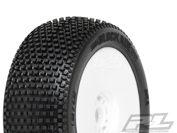 Pro-Line Blockade X4 (Super Soft) Premounted Light Weight White Wheels (2) PL9039-034