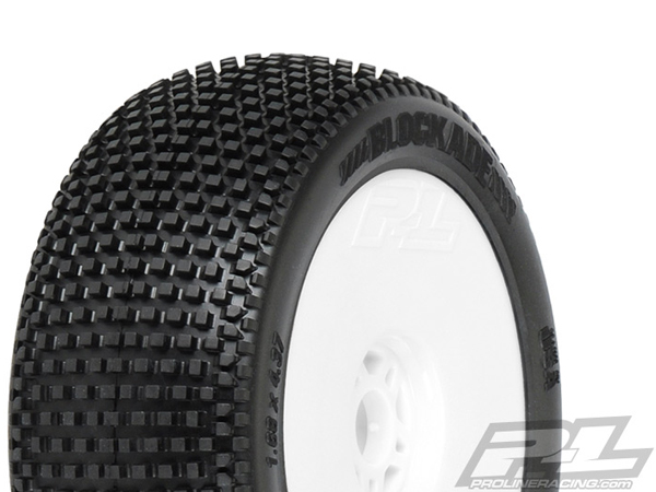 Pro-Line Blockade X3 (Soft) Premounted Light Weight White Wheels (2) PL9039-033