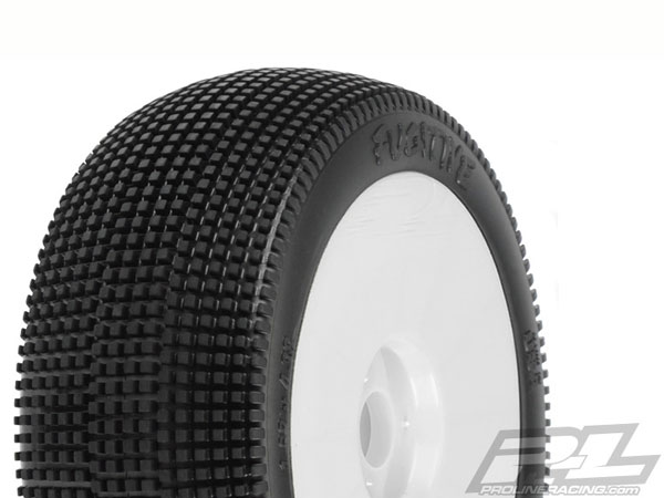 Pro-Line Fugitive X2 Tyres Premounted on Lightweight White Wheels (2) PL9052-032
