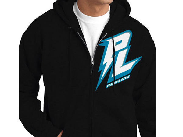 Pro-Line Bolt Black Zip-Up Hoodie - Small PL9813-01