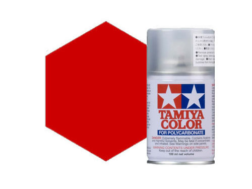 Tamiya PS-15 Metallic Red Polycarbonate Spray 86015