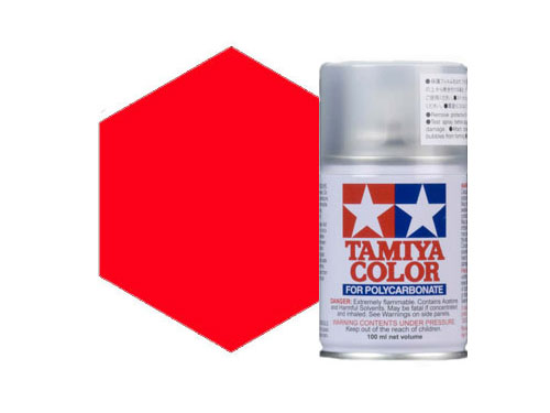 Image Of Tamiya PS-20 Flourescent Red Polycarbonate Spray