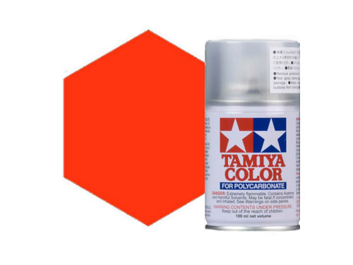 Image Of Tamiya PS-24 Flourescent Orange Polycarbonate Spray