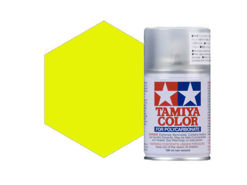 Tamiya PS-27 Flourescent Yellow Polycarbonate Spray 86027