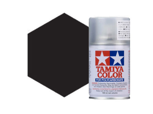 Image Of Tamiya PS-5 Black Polycarbonate Spray
