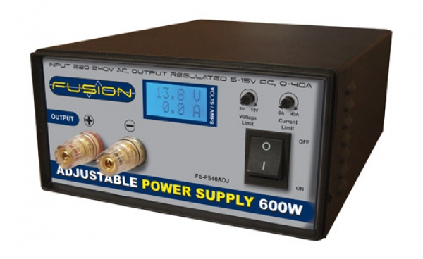 Fusion 600W Adjustable 40A Power Supply PS600ADJ