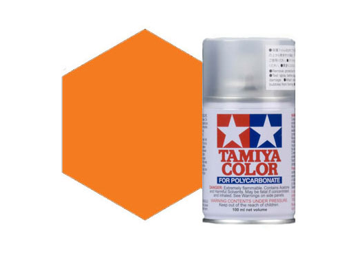 Image Of Tamiya PS-7 Orange Polycarbonate Spray