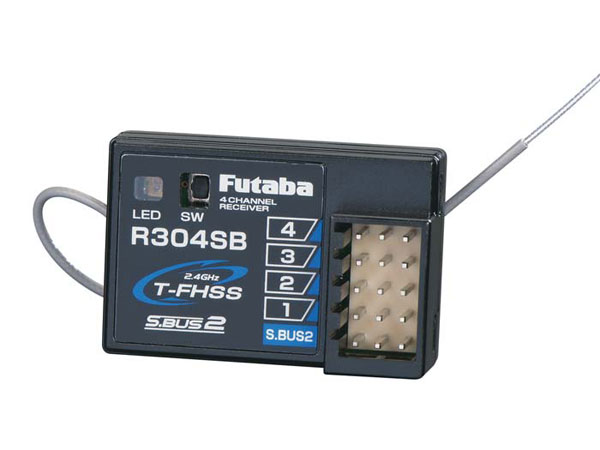 Image Of Futaba R304SB 4ch Rx with Telemetry FHSS (S-Bus) (HV) 2.4GHz