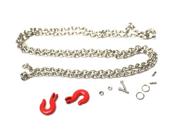 Racers Edge 3410 1//10 Scaler Tow Hooks /& Chain Set