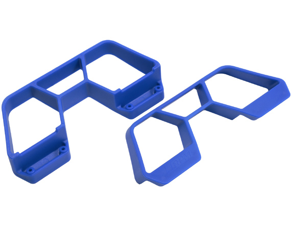 RPM Nerf Bars for Traxxas 1/10th Scale Rally and LCG Slash 4x4 - Blue RPM70655