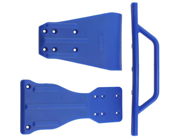 RPM SC10 FR Skidplate and Chassis Brace - Blue  RPM70905