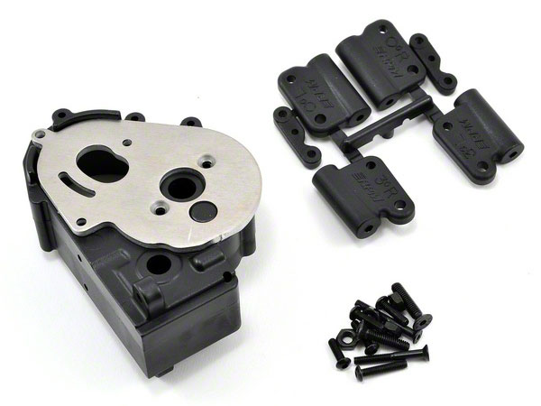 RPM Traxxas 2wd Hybrid Gearbox Housing and Rear Mounts - Black RPM73612