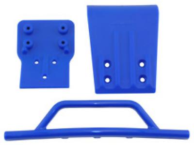 RPM R//C Front Bumper Skid Plate Blue Traxxas Slash 4x4 RPM80025