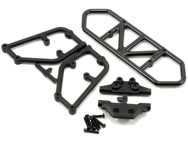 RPM Rear Bumper & Skid Plate For Traxxas Slash 4X4 - Black RPM80122