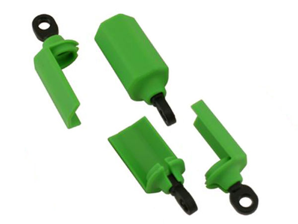 RPM Shock Shaft Guards for Traxxas 1/10th Scale Shocks - Green RPM80404