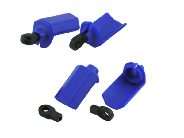 RPM Shock Shaft Guards for Traxxas 1/10th Scale Shocks - Blue RPM80405