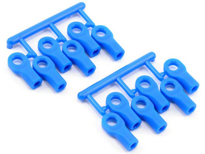 RPM Short Rod Ends Blue (12) RPM80475